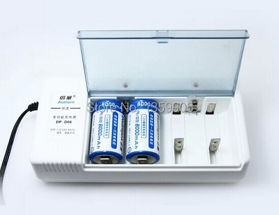2PCS 1.2 v universal charger, rechargeable D/C/AA/AAA / 9 v rechargeable batteries, B06charger