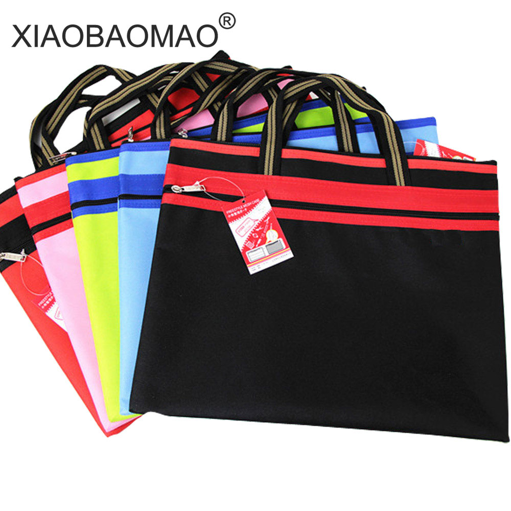 XIAOBAOMAO Business Document Bag A4 file bag zipper closure oxford cloth document organizer office stationery paper a4 document storage bag waterproof oxford cloth multifunctional business organizer bag file folder stationery organizer zipper