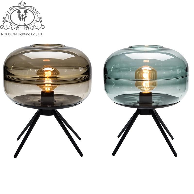 NOOSION Modern Glass Table Lamp for Home Living Creative Art Handmade Glass Ornaments Decoration Desk lamp Lampara decorativa