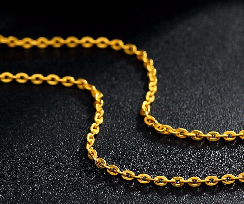 Pure 999 24K Yellow Gold Necklace/ Best O Link Chain Necklace 2g