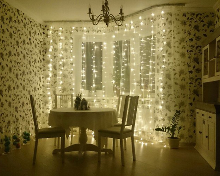 Free Shipping 3Mx3M 300LED Curtain Icicle Led String Lights Christmas New  Year Wedding Party Decorative Outdoor Lights 220V EU In LED String From  Lights ...