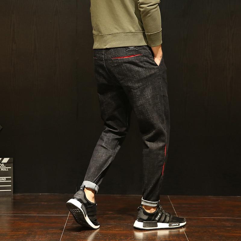 Men Black Harem Jeans 2018 Fashion New Plus Size Loose Fit Perfect Elastic Male Hip Hop Casual Stretch Denim Harem Pants