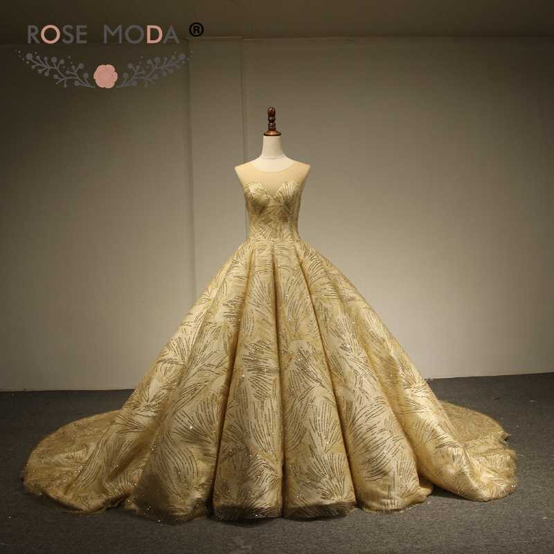 1ec6c34f320ff Detail Feedback Questions about Rose Moda Luxury Gold Glitter Mesh ...