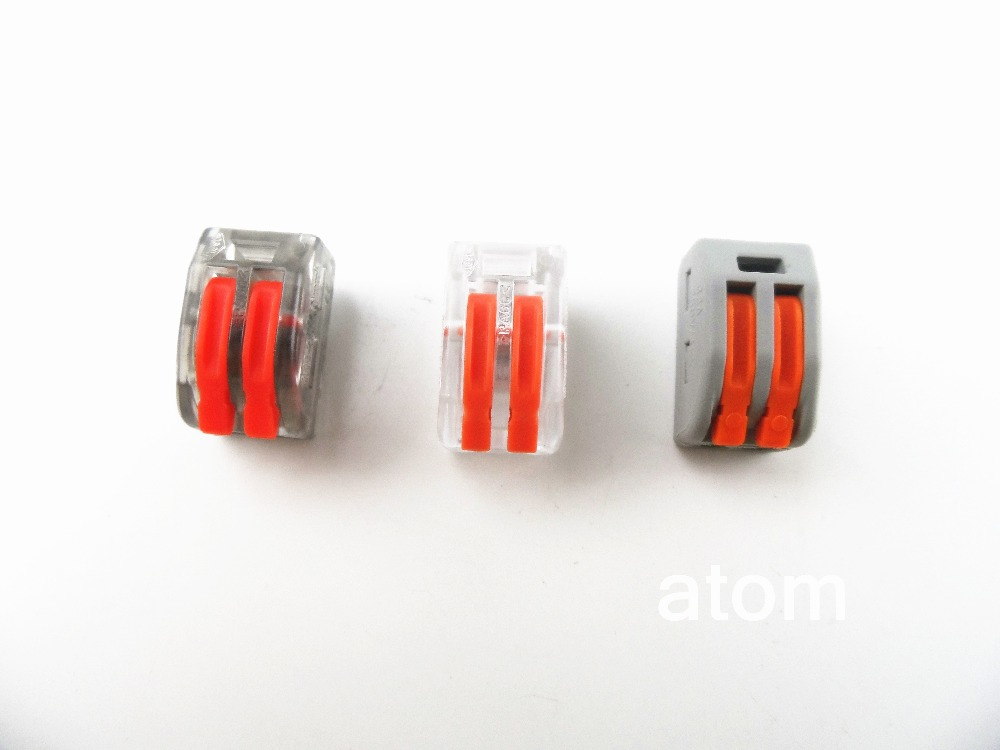 1PCS  222-412(PCT212) Universal Compact Wire Wiring Connector 2 pin Conductor Terminal Block With Lever 0.08-2.5mm2 original 1 pcs aimb 212 aimb 212 rev a1 selling with good quality