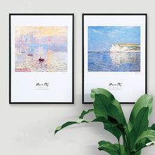 Nordic style decorative painting Simple modern Home living room restaurant Monet oil murals