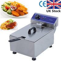 10L Large Capacity French Fries Electric Deep Fryers Single Tank Fish And Chips Frying Machine DZL