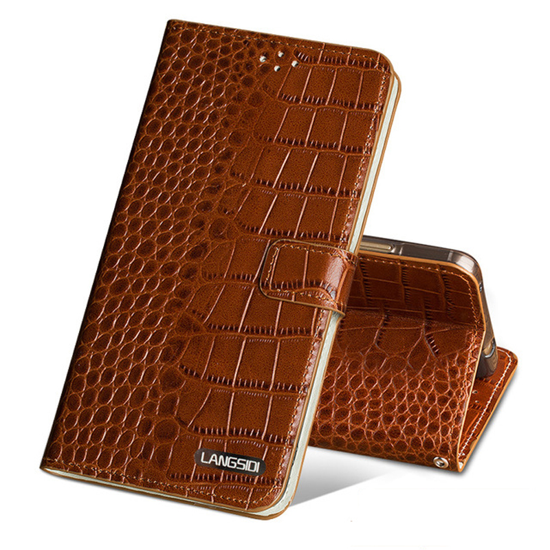 Étui de téléphone pour xiaomi mi 5 6 8 A1 A2 lite Max 2 3 mi x 2 s 3 étui Texture Crocodile pour rouge mi Note 4 4X 4A 5 Plus