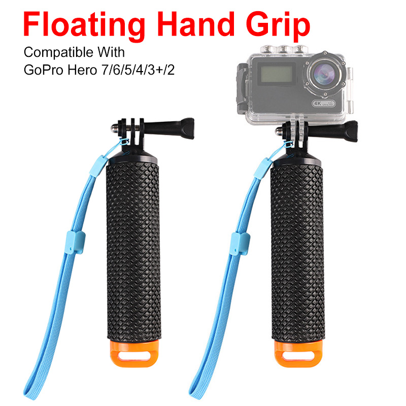 Waterproof Floating Hand Grip For GoPro Camera Hero 4 3+ Water Sport Action Cameras Handler Mount Accessories