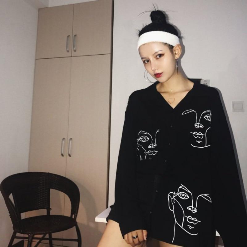 HTB1Q5AmbiLrK1Rjy1zdq6ynnpXa1 - New Summer Blouse Shirt Female Cotton Face Printing Full Sleeve Long Shirts Women Tops Ladies Clothing