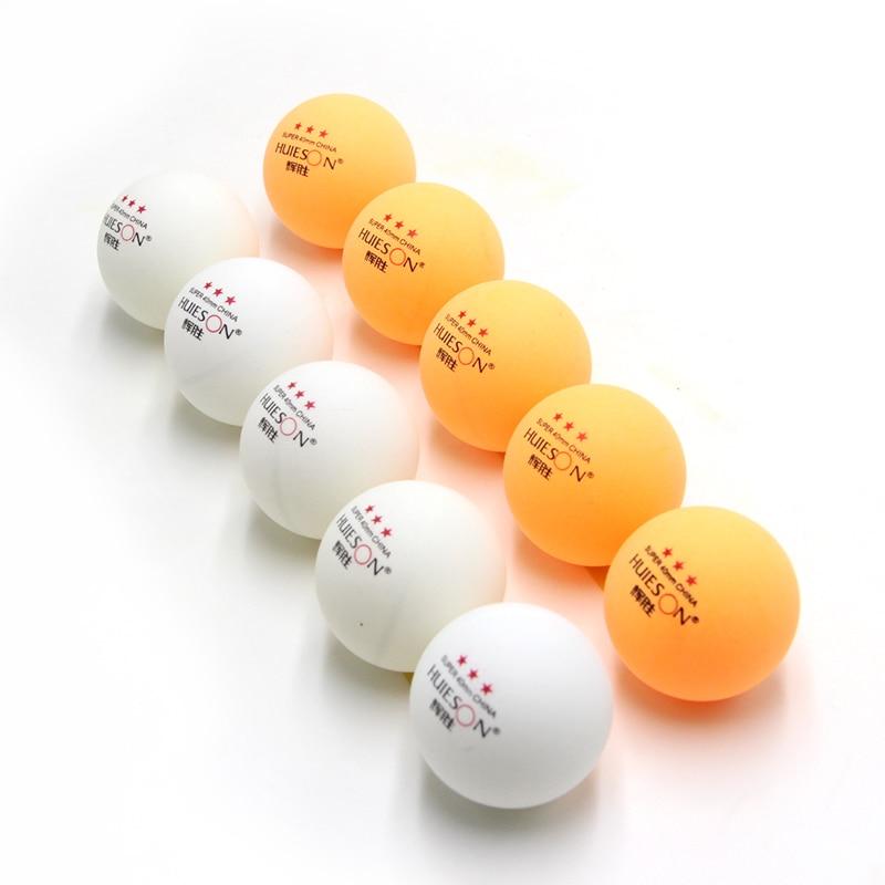 10 pièces balle de Ping-Pong pour l'entraînement de compétition balles de Ping-Pong 40mm 3 étoiles balle de Ping-Pong professionnelle blanc Orange pas cher
