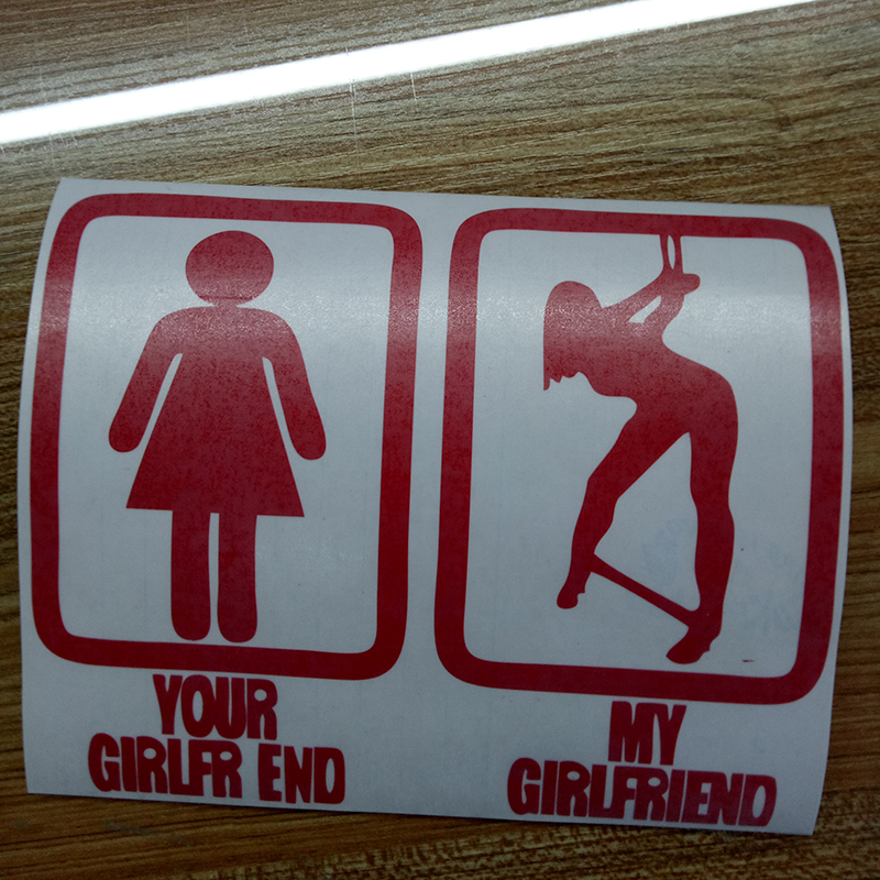 Your Girlfriend Or My Girlfriend Bondage Sticker Funny Car Styling Vinyl Decal Jdm Lowered Car Window Decor Jdm in Car Stickers from Automobiles Motorcycles