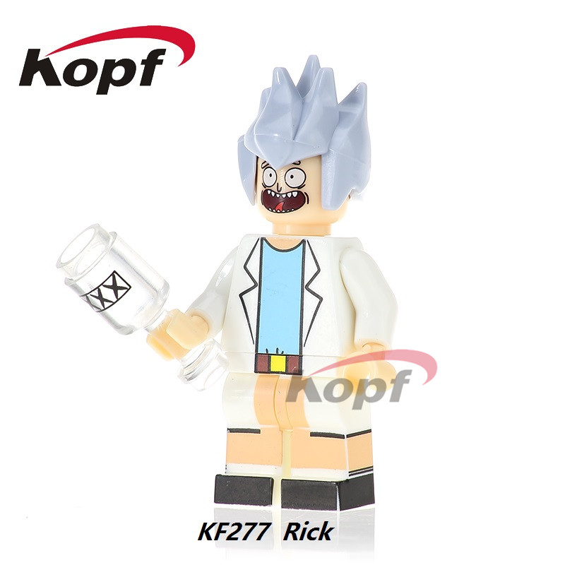 KF277 Super Heroes Rick Morty Termination Bricks Ronald McDonald Michael Jackson Building Blocks Bricks Education Toys Kids Gift ...