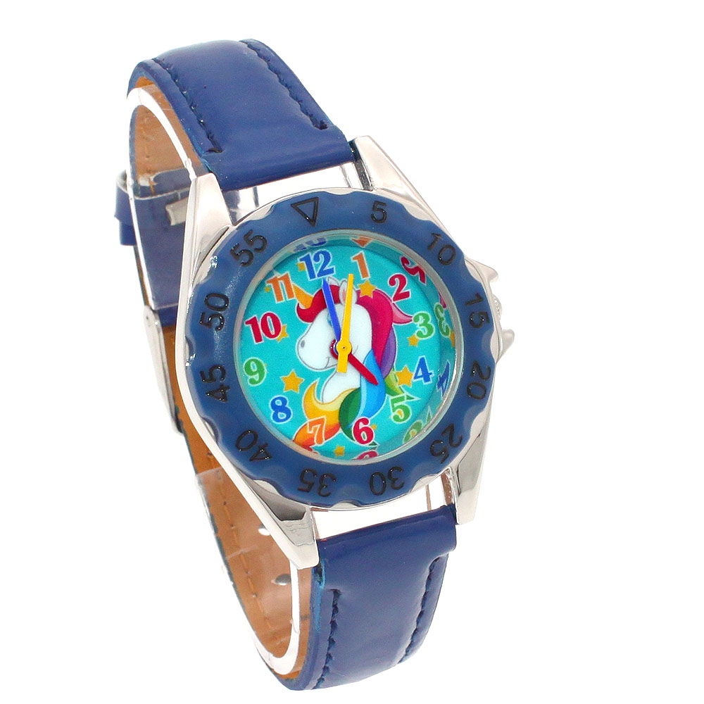 Children's Watches Cute Unicorn Ladies Watch For Kids Girls Boy Leather Wristwatch Casual Dress Fashion Children Learn Time Watch U85b Kidswatch A Wide Selection Of Colours And Designs