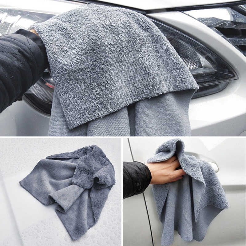 Premium Microfiber Car Detailing Towel Ultra Soft Edgeless Towel Perfect For Car Washing Drying Super Absorbent 40X40CM 380GSM