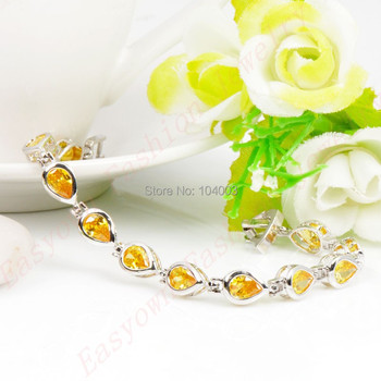 Bracelet Citrine Argent