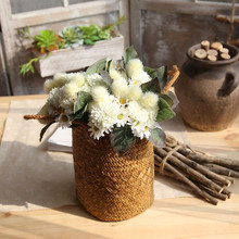 Pompom bouquet artificial flower decoration wedding holding road lead wall plant fake flowers