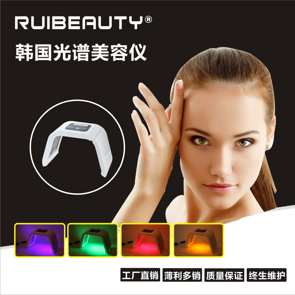 New 4 Color PDT LED Light Therapy Machine LED Facial Beauty SPA PDT Therapy For Skin Rejuvenation Acne Remover Anti-wrinkle