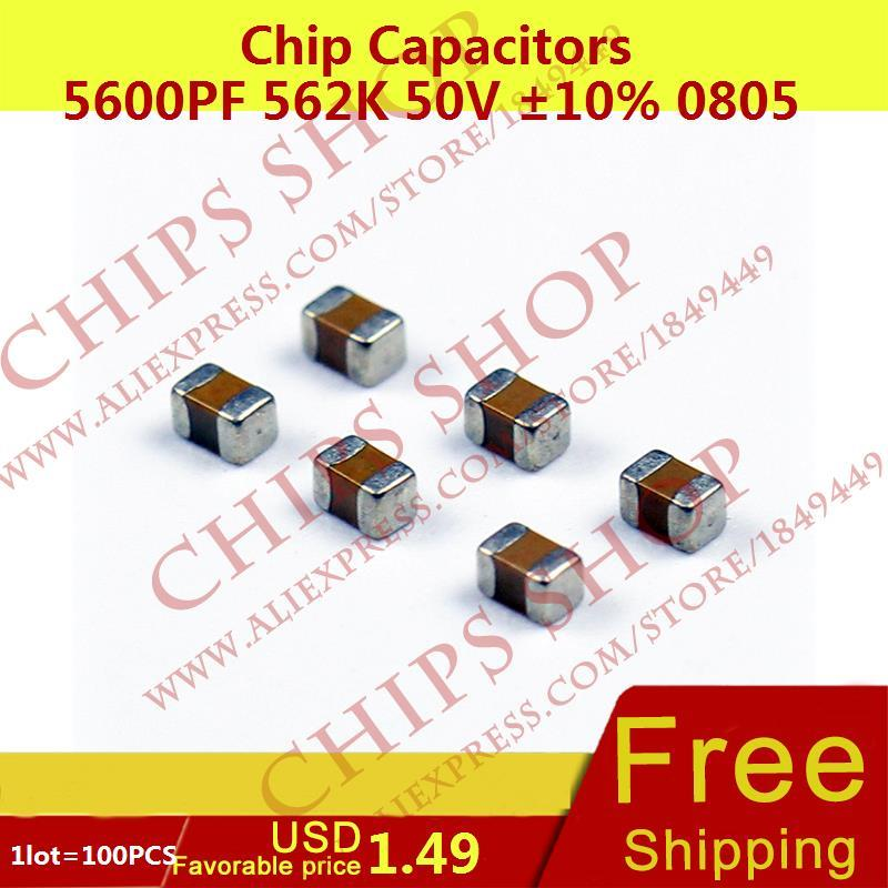 FREE SHIPPING 10 x 5.6nF 0.0056uF 100V 5/% Polyester Film Box Type Capacitor