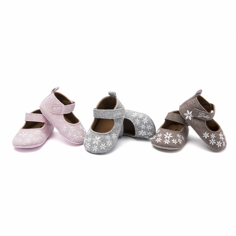 Shoes Baby-Girl Walker Born Toddler Infant Little-Kidfirst Princess New Flower with Crib