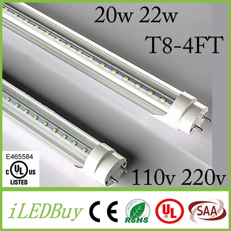 4ft T8 Led Tube High Super Bright 20W 22W Warm /Cold White