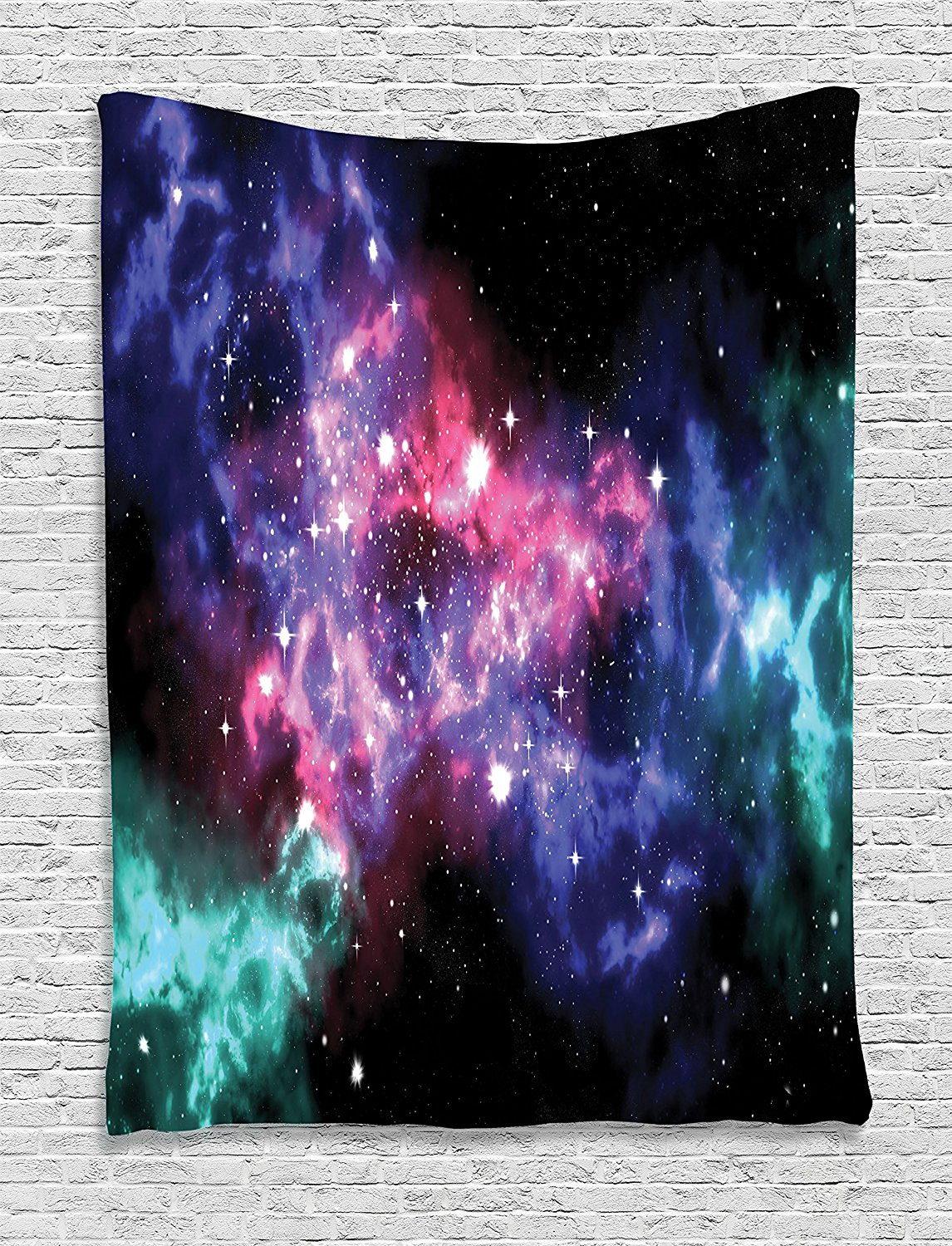 Tapestry, Stars And Dusty Gas Cloud In Planetary Magical Cosmos Universe Print Decor, Bedroom Living Room Dorm Decor
