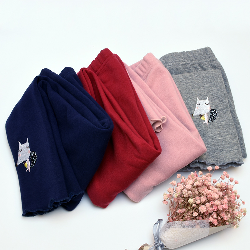 Kids Girls Toddler Cotton Warm Knitting Elastic Leggings Pants Trousers 2-7 Year