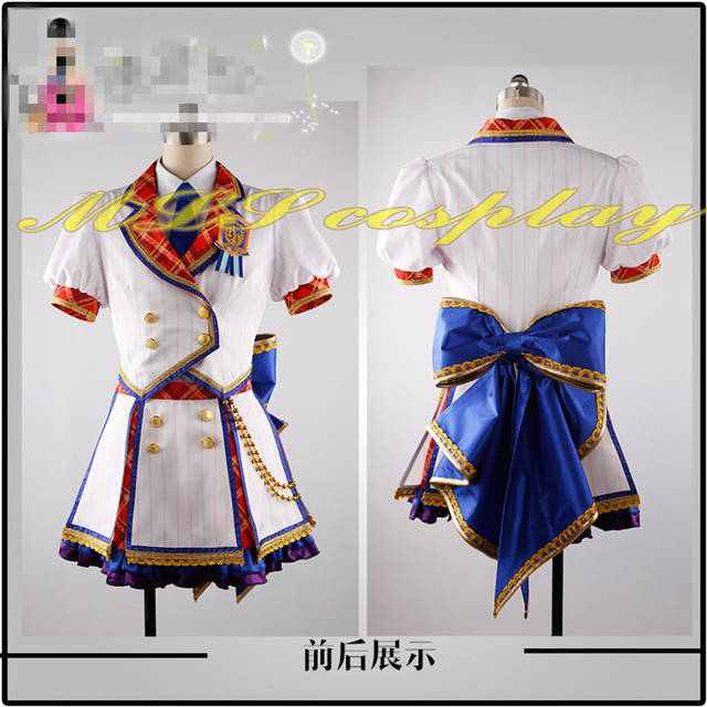 Online Shop Japanese Anime THE IDOLM STER Cinderella Girl Cosplay Costume  6th Anniversary Dance Dress Stage Formal Dress Custom Made Clothes  e8afe6ae9c88