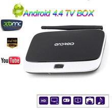Nueva CS918 Android 4.4 Smart TV Caja Quad Core RAM 1 GB ROM 8 GB 1080 P hd Q7 Android TV RK3188T 4 K Reproductor Multimedia caja