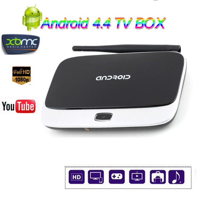 Nueva CS918 Android 4.4 Smart TV Box Quad Core 1 GB 8 GB 1080 P RK3188T Media Player Preinstalado XBMC KODI Ad-ons Q7 Android TV caja