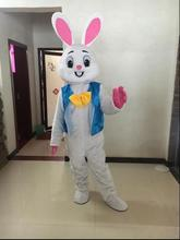High Quality Cosplay Costumes Professional Easter Bunny Mascot Bugs Rabbit Hare Easter Adult Mascot Costume цена