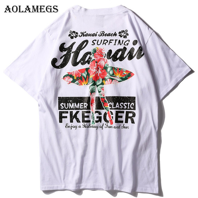 Aolamegs T Shirt Men Cool Dancer Print Men's T-Shirts Short Sleeve High Street Summer Hip Hop Casual Cotton Tops Tees Streetwear