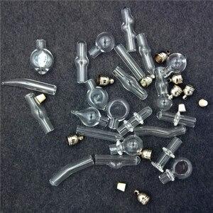 Image 2 - 200X cam şişe kolye cam madalyon kolye uçları mini dileğiyle şişeler adı pirinç şişe püskül kap