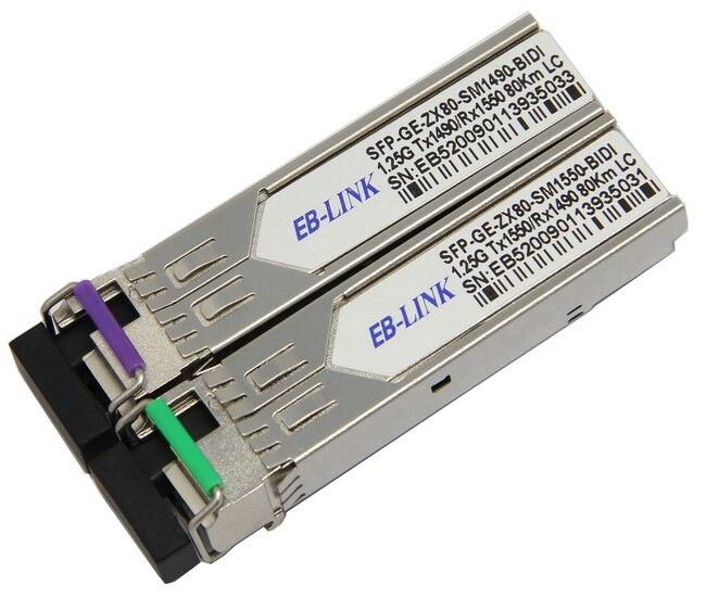 For Cisco Compatible GLC-BX-U80 GLC-BX-D80,1490/1550nm 1.25G 80km WDM BIDI SFP Transceiver moduleFor Cisco Compatible GLC-BX-U80 GLC-BX-D80,1490/1550nm 1.25G 80km WDM BIDI SFP Transceiver module