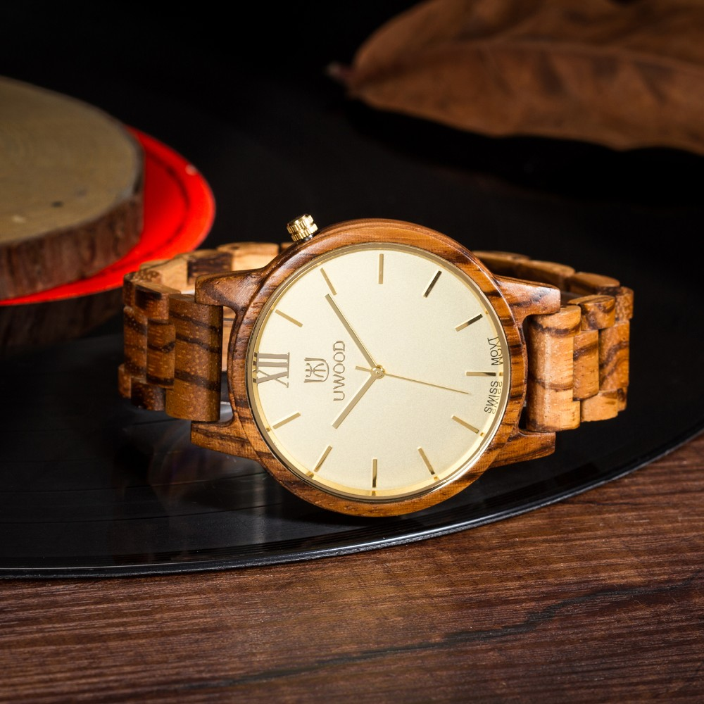 Natural Bamboo Wooden Watch Brand new analog men wood watch slim designer 16 Strap Japanese Quartz Movement Casual Watches 7
