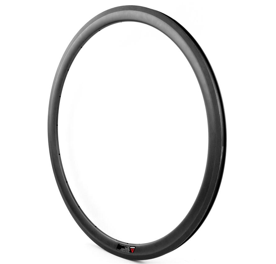 Full Carbon fiber 700C Road Bicycle rim 38mm profile Clincher carbon Rim 23mm Width 26er full carbon fiber 100mm width snow fat bike rim black disc brake bicycle rim