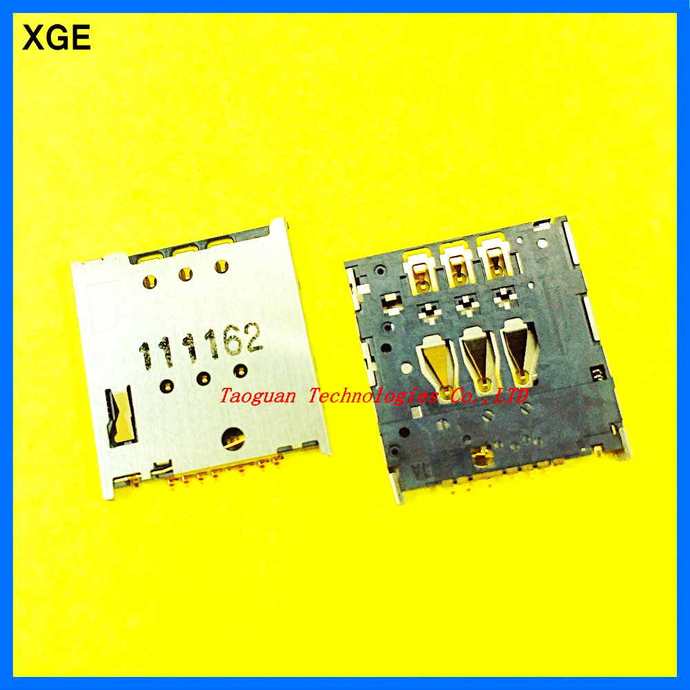 2pcs/lot XGE New SIM Card Reader Holder Connector Socket Slot Replacement For Meizu MX4 Pro MX3 MX2 MX4 Top Quality