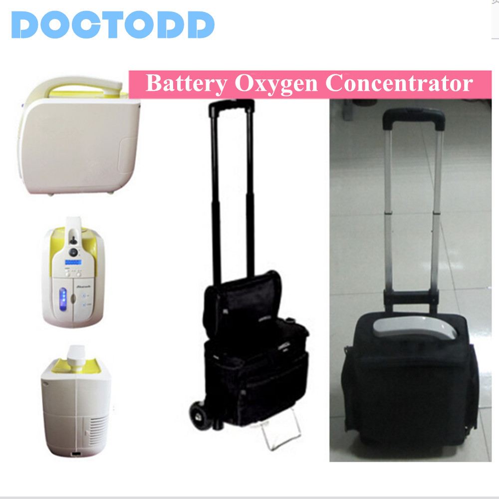 DC12V Battery Oxygen Concentrator With Battery Car Charger Portable Oxygen Generator medical oxygen concentrator for respiratory diseases 110v 220v oxygen generator copd oxygen supplying machine