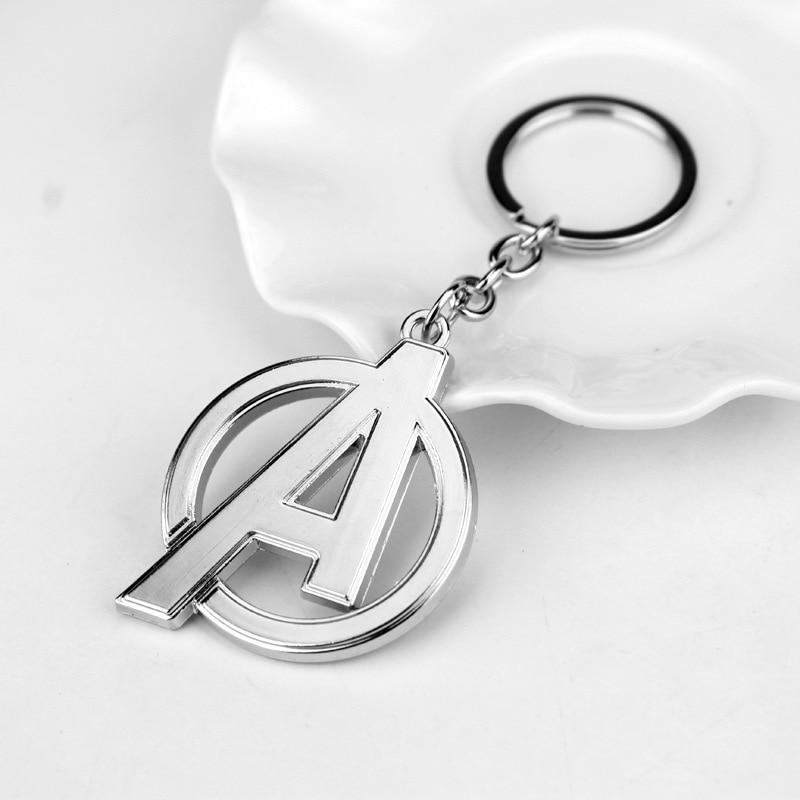 Модный брелок Мстители письмо Капитан Америка кулон Щит металлический брелок Porte Clef автомобильный брелок ювелирные изделия для мужчин подарки - Цвет: Style 5