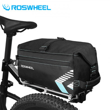 Roswheel Bicycle Bag Accessories Bag Foldable Nylon Bicycle Basket Saddle Bags Backpack Versatile Black Unisex Bike Bags 6L ce