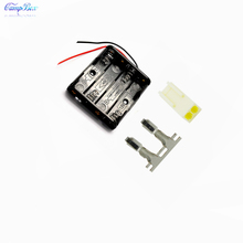 100Pcs 4xAAA Battery Case Holder Socket Wire Junction Boxes With 15cm Wires, KF2510 Header and Crimps