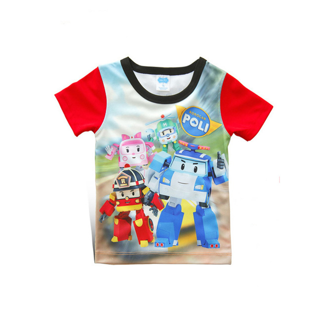 fe13158788c Boys 3D T-shirt Tops Infant kids Cartoon Car Toys Game Characters Print  Cotton Short