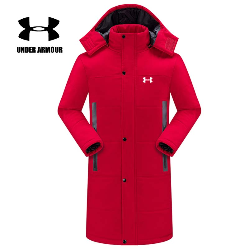 Under Armour Winter Jacket women thick warm hooded overcoat Windproof running Jacket Parent-child cotton coat Asian size XS-5XL gudi blocks city air plane building blocks international airport compatible legoinglys block educational toys for children gift
