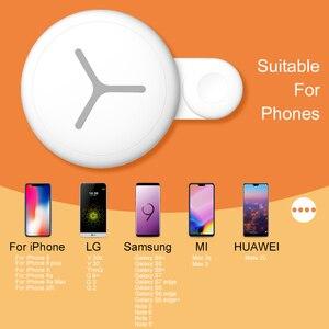 Image 2 - CASEIER 10W 2 en 1 QI chargeur sans fil pour iPhone X XS Max XR 8 chargeur rapide pour Apple Watch 4 3 2 double Cargador inalambrico