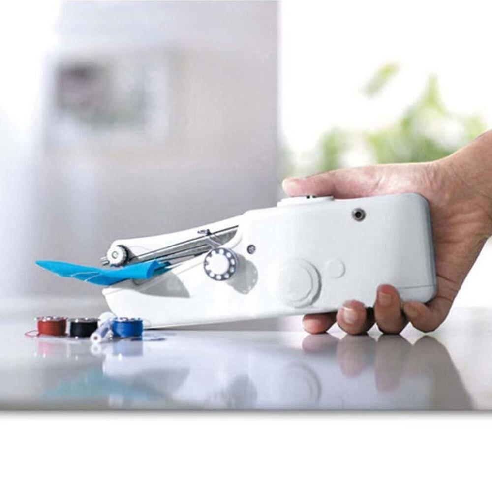 Eléctrico portátil de mano Costura máquina mini puntada práctica portable needlework Cordless hecho a mano herramienta de bricolaje ropa del hogar