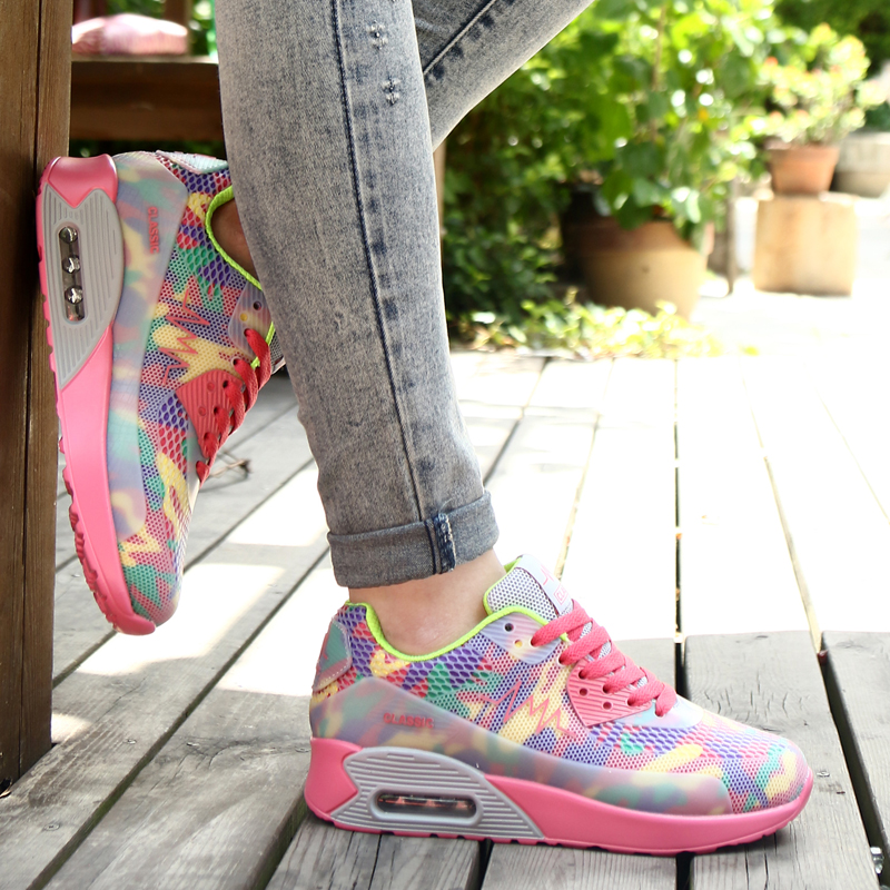 ФОТО Women Running Shoes Super Light Shoes 2017 Female Trainers Athletic Outdoor Sport Sneakers Run Original zapatos de hombre Free