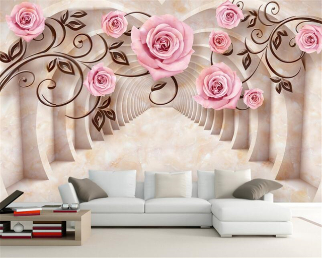 Beibehang Room Living Background Decoration 3d Wallpaper Marble Rose Modern Stone Texture Photo Mural 3D