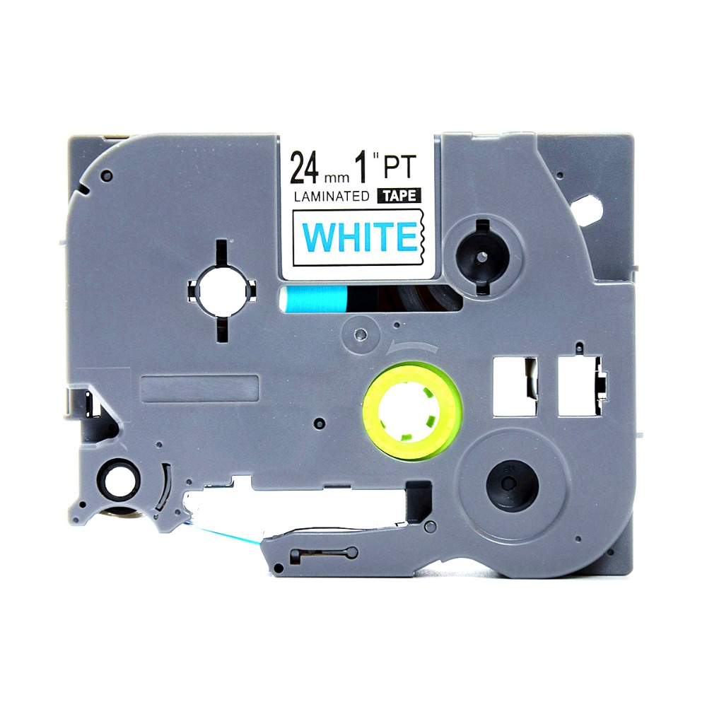 TZ 253 24mm Label Tape For Brother TZe 253 Blue on White PT-D600 2310 9700PC