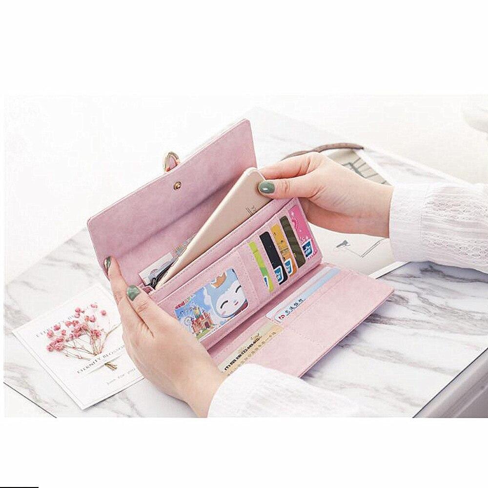 Kvinnor plånbok med kreditkortsinnehavare Telefonhållare Mode - Plånböcker - Foto 2