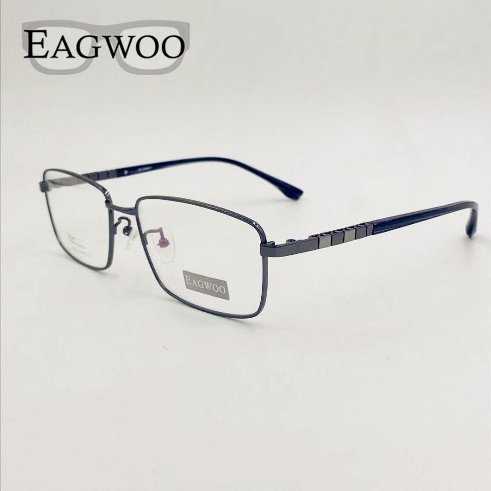 Men Pure Titanium Eyeglasses Frame Big Full Rim Flexible Optical Frame Prescription Big Spectacle Wide Face