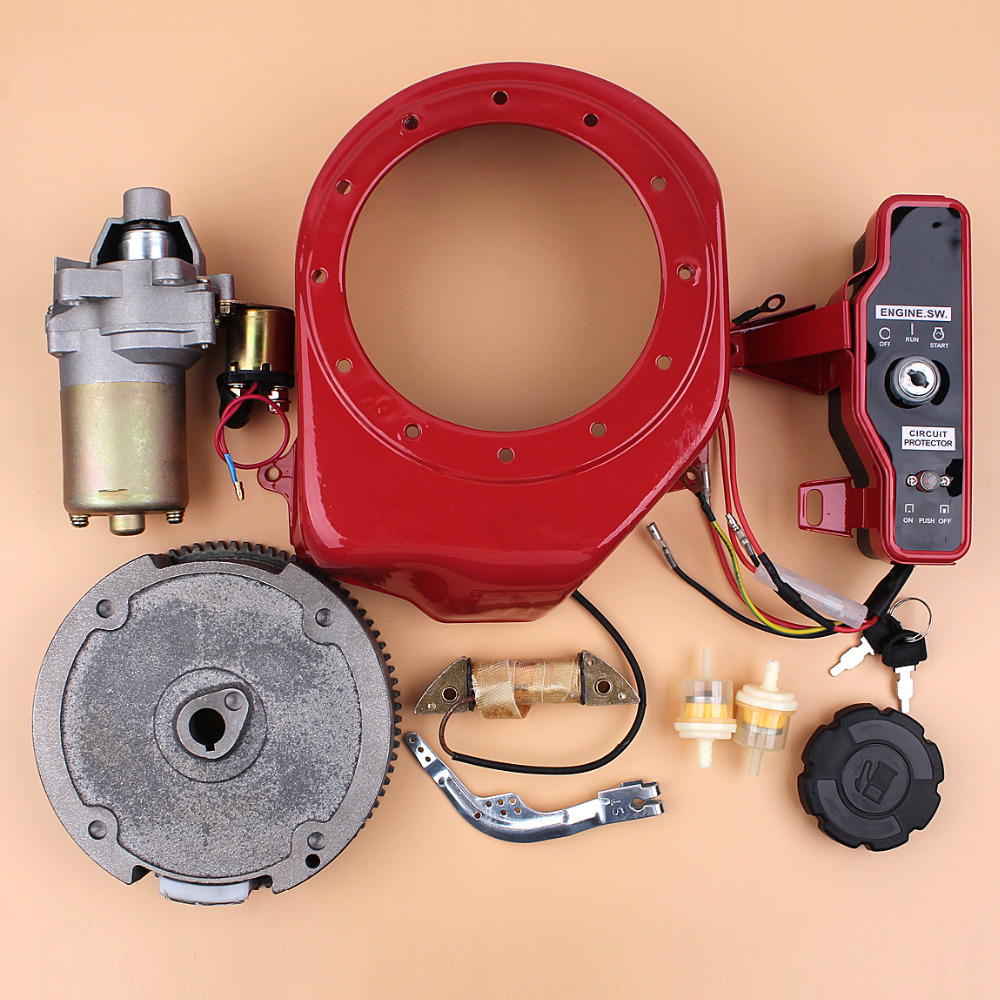 Electric Starter Flywheel Switch Charging Coil Motor Kit For HONDA GX160  GX200 Chinese 168F 5.5HP 4 Stroke Gas Engine Generator-in Lawn Mower from  Tools on ...